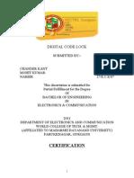 Digital Code Lock