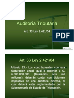 Auditoria Tri but Aria - Art 33 Ley 2421-04
