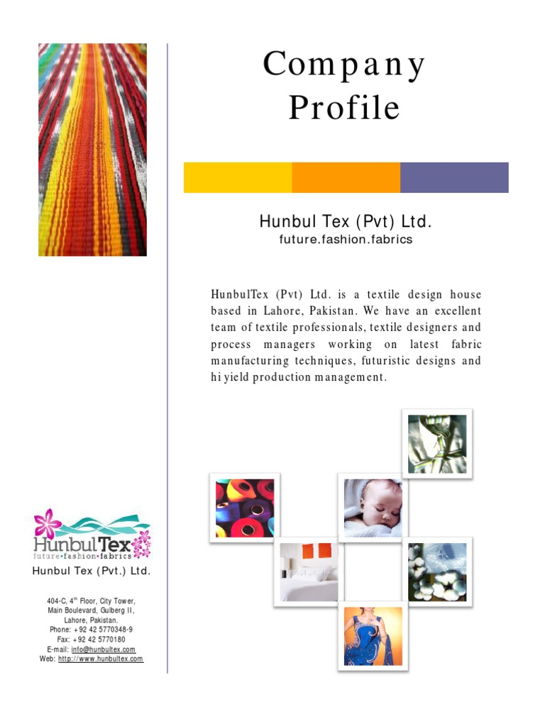HunbulTex Corporate Profile | Dyeing | Textiles