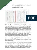 Un Analisis de La Teoria de La Evolucion a Traves de Info Design de Ben Fry
