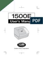 Manual 1500E Time in Machine