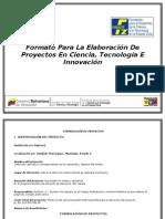 FORMATO PARA LA ELABORACIÓN DE PROYECTOS LOCTI2