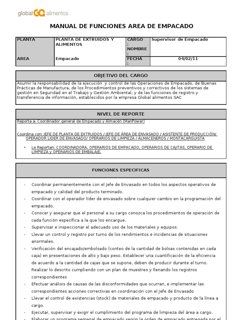 Manual de funciones anterior for Manual de funciones y procedimientos de un restaurante
