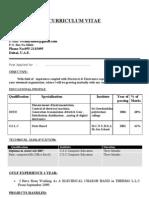A Venkatasamy Resume