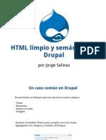 HTML Limpio y Semantico en Drupal New