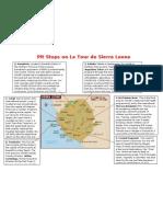 Pitstops on Le Tour de Sierra Leone F
