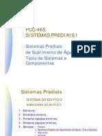 Sistemas Prediais Agua Fria Sistema e Componentes
