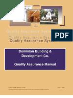 Sample Builder Quality Manual