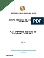 Plan Regional de Seguridad Ciudadana 2010