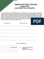Local Sales Tax on Gasoline
