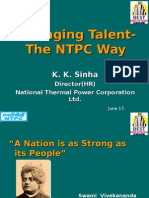 Managing Talent NTPC Way