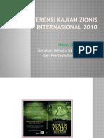 Konspirasi - Konferensi Kajian Zionis Internasional 2010