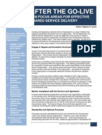 After the Go-Live - Ten Focus Areas for Effective Shared Service Delivery