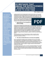 Five Mistakes That Damage the Effectiveness of Shared Services and How to Avoid Them