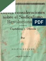 Delfin Levano Consideraciones Sobre El Sindicalismo Revolucionario