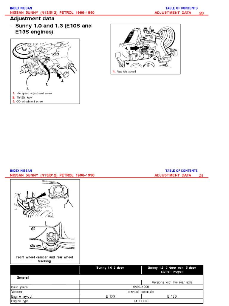 nissan sunny b12 service manual free download