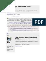 Pump Inspection Checklist