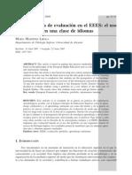 Propuesta de evaluación del portafolio en ELE