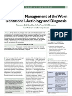 Restorative Management of the Worn Dentition Pt1