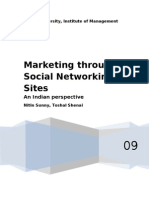 Marketing Through Social Networking Sites 2003