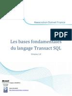 Les Bases Fond Amen Tales Du Langage Transact SQL