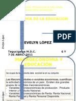 ECONOMIA DE LA EDUCACIÓN 6 Y 7  DE ABRIL DE 2011