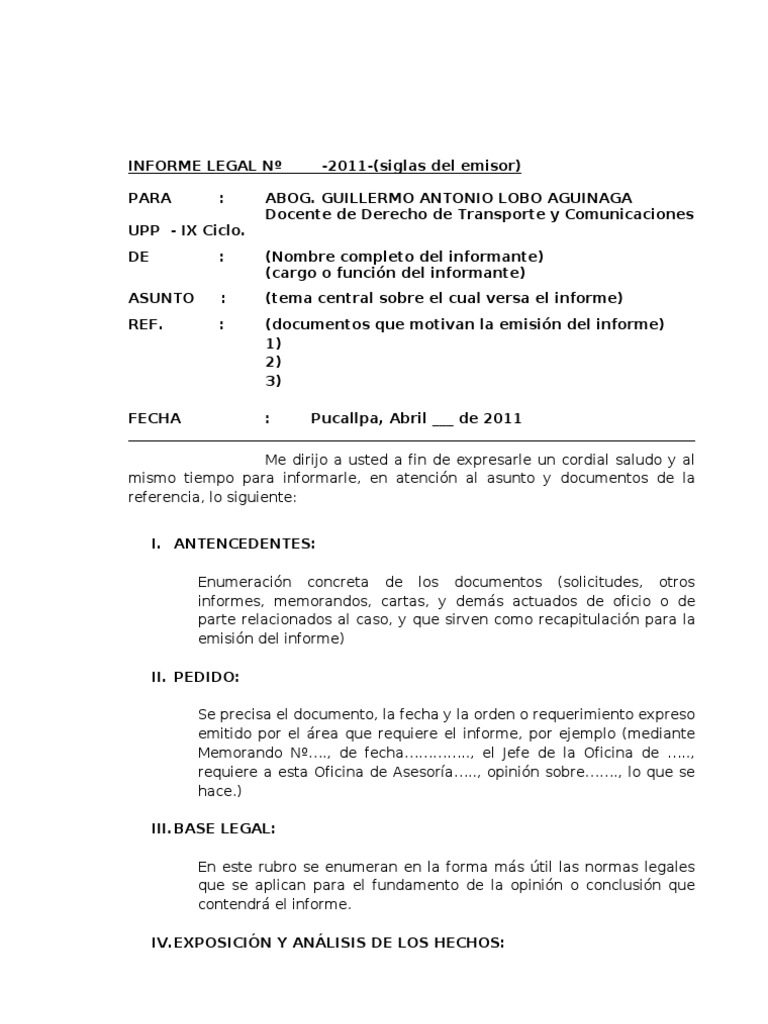 formato informe ejecutivo simple - Pertamini.co