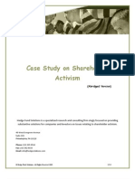 Case Study on Activism