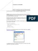 Cómo cargar un fichero de texto plano en una tabla MySQL