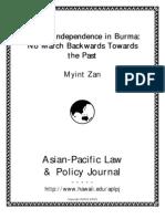 Judicial Independence in Myanmar