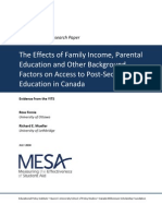 Finnie & Mueller, 2008-The Effects of Family Income