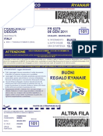 Ryan Air Boarding Pass