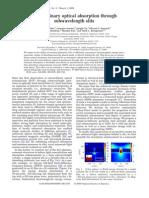 White Et Al. 2009 Extraordinary Optical Absorption Through Sub Wavelength Slits. Optics Letters