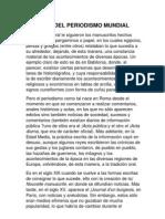 Historia Del Periodismo Mundial