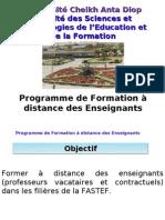 Presentation de La FAD FASTEF (1)