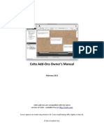 Celtx Add-Ons Owners Manual
