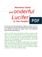 Do Mormons Chant 'Wonderful Lucifer' in the Temple?