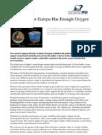 Jupiter's Moon Europa Has Enough Oxygen - PHYSORG.COM