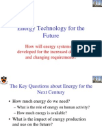 Lecture 1 the Challenge of Energy for the 21st Century