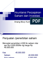 Akuntansi Pajak Saham Investasi