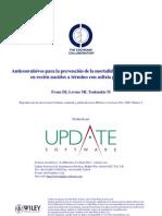 Anticonvulsivos para la prevención de la mortalidad y la morbilidad en RNT con asfixia perinatal