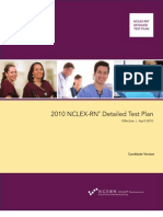 36410137 NCLEX RN Test Plan 2010 Detailed