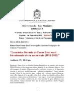 Boletín No. 5 (Sesión 6 - GTNT-2011)