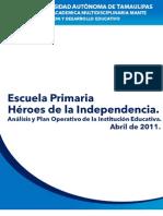 Esc. Prim. Heroes de La In Depend en CIA Analisis y Plan Operativo