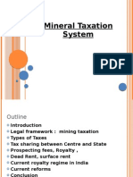 Mineral Taxation System