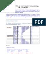 INTRODUCCIÓN AL SISTEMA INTERNACIONAL DE UNIDADES