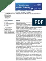 Rail Training Conderence - Development of International Training in Asia