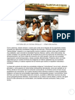 Historia de La Cocina Tipica Colombiana