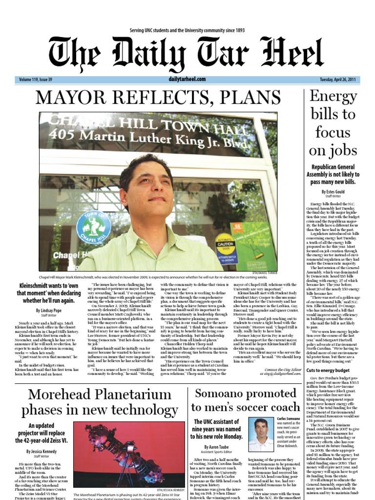 The Daily Tar Heel for April 26, 2011 | University Of North Carolina