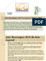 Bloomington Solar Tour
